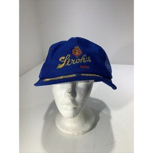 Vintage Strohs Beer Snapback Hat Advertising Bar M
